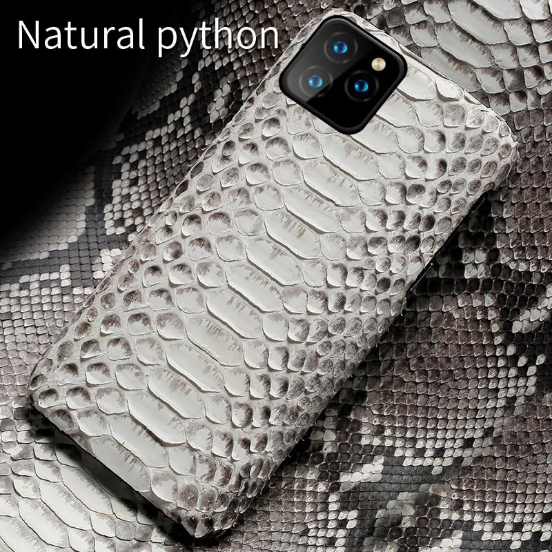 정품 파이썬 가죽 전화 케이스 아이폰 11Pro 11 프로 맥스 X XS 맥스 XR 5s 5 6 6s 7 8 플러스 SE 2020 새로운 snakeskin 럭셔리 커버
