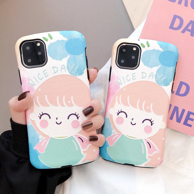 해피 어린 소녀 슈퍼 강한 구호 아크 휴대 전화 쉘 아이폰 6p6sp7p8pxr 케이스 아이폰 11 케이스 66s78xs 맥스 프로 맥스