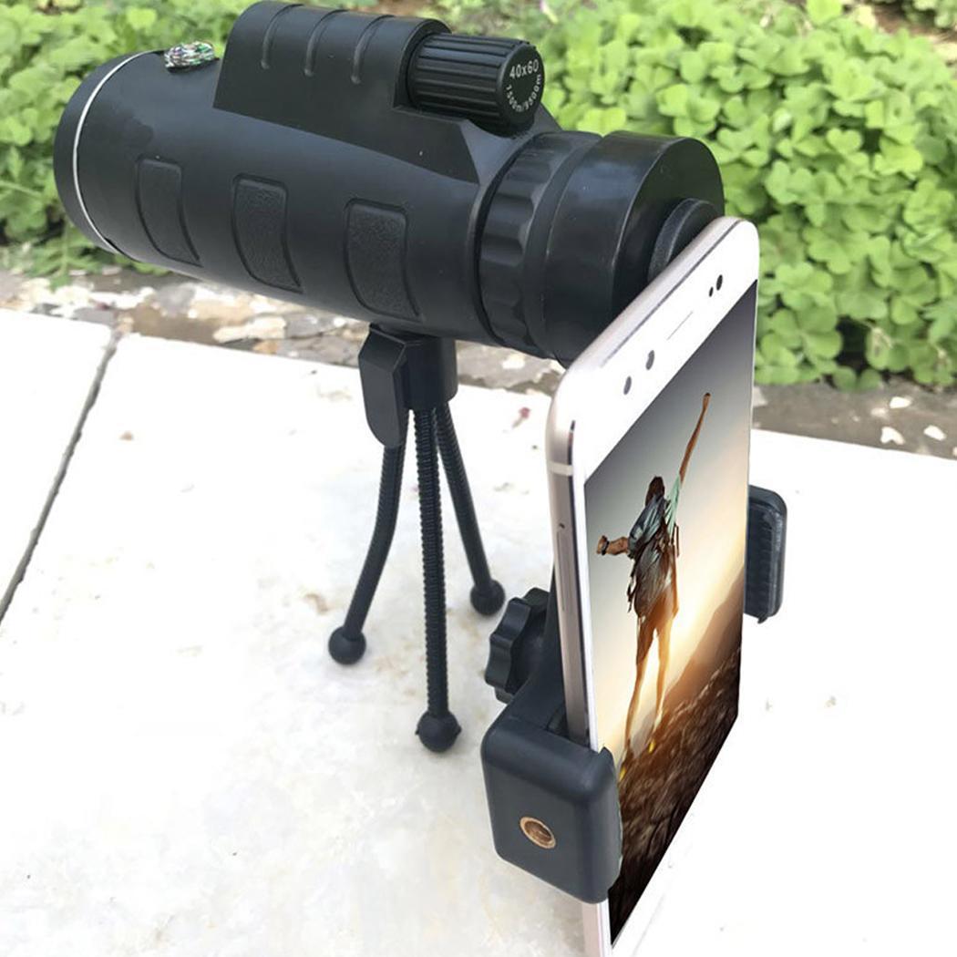 [해외]Portable Outdoor 40X60 HD Phone Clip Monocular Travel 22mm 6mm Tripod Monocular Telescope FMC Green Film 15mm/Portable Outdoor 40X60 HD Phone Clip