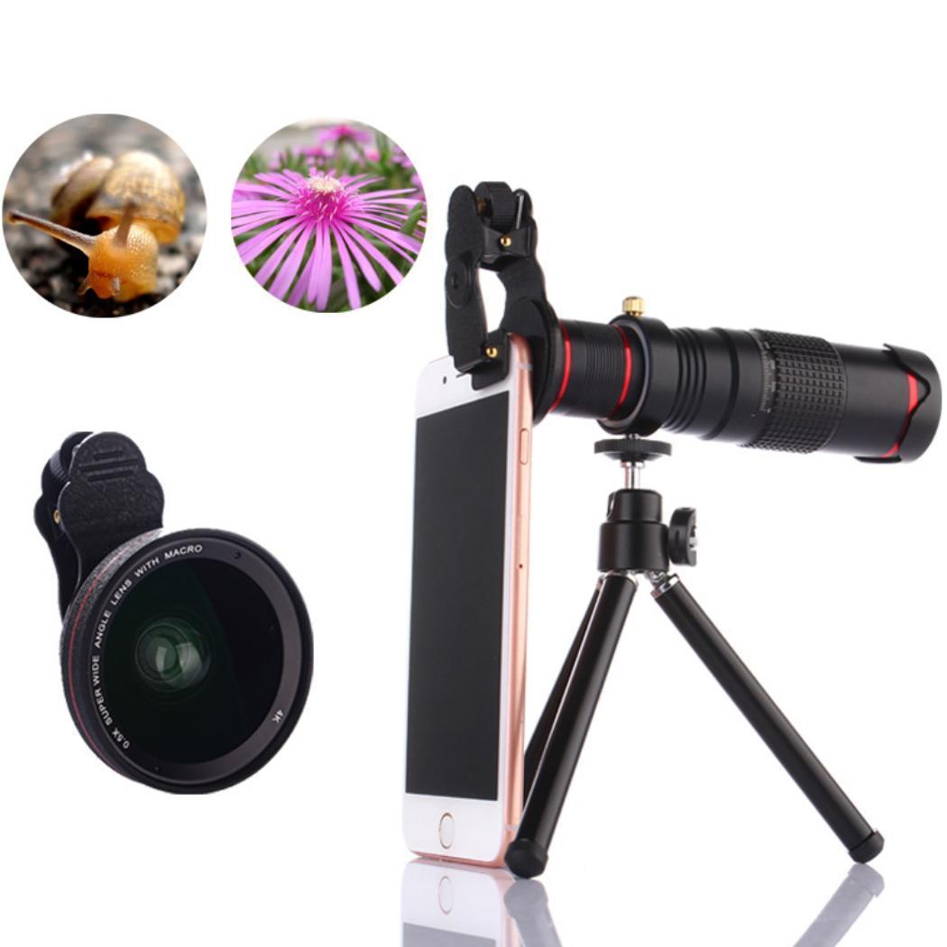 [해외]22X Zoom Mobile Phone Telescope Lens Black Telephoto External Smartphone Camera Lens/22X Zoom Mobile Phone Telescope Lens Black Telephoto External