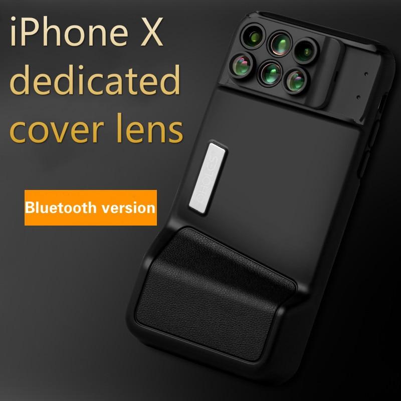[해외]Bluetooth Phone Lens For iPhone X Wide-angle Macro Fisheye Telephoto Focal Length Portrait Blur LensPhone Cover/Bluetooth Phone Lens For iPhone X