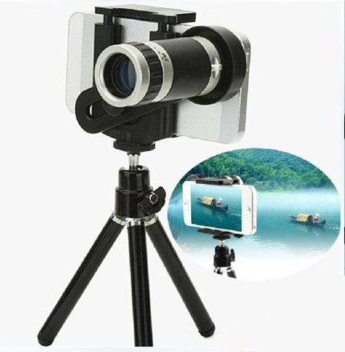 [해외]Tripod Stand Clip 8X 12X 18X Telephoto Len Mobile Phone Telescope Lens For iPhone X,Google,Zopo,Wiko,Blackview,Cubot,Umi,Leagoo/Tripod Stand Clip