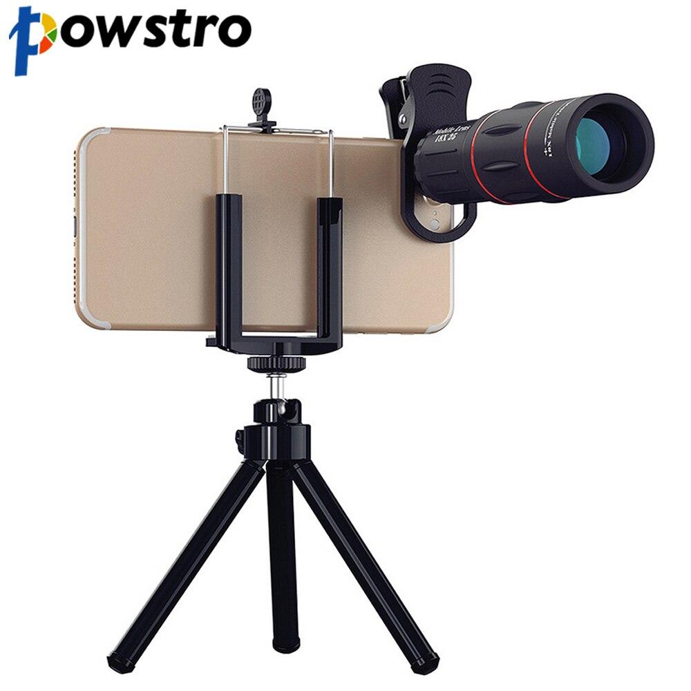 [해외]POWSTRO 18X Zoom 1000m 3280ft Telescope Mobile Lens OutdoorTelescope Phone Camera Lens Tripod Clip For iPhone For Samsung/POWSTRO 18X Zoom 1000m 3