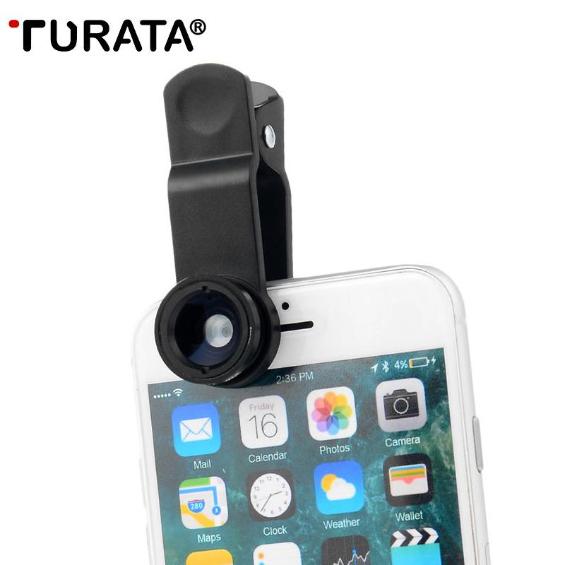 [해외]TURATA 5 in 1 HD Universal Phone Camera Lens Fish Eye Camera Lens Kit [0.67X Wide Angle+10X Macro] Clip-on Design For Smartphone/TURATA 5 in 1 HD