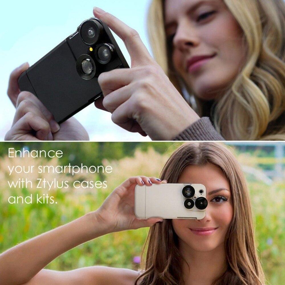 [해외]Mobile phone Undistorted wide-angle macro four-in-one HD HD external camera lens For Iphone 7/8/Mobile phone Undistorted wide-angle macro four-in-