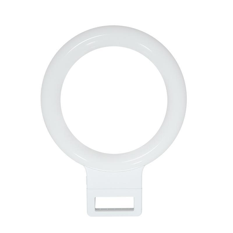 [해외]32 LED Rechargeable Clip-on Phone Selfie 112g Ring Light for Round Mobile Phones Home, Salon, Outdoor, etc/32 LED Rechargeable Clip-on Phone Selfi