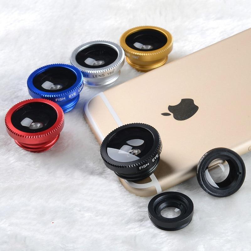 [해외]Three-in-one universal mobile phone lens fisheye lens macro lens mobile phone external lens  /Three-in-one universal mobile phone lens fisheye len