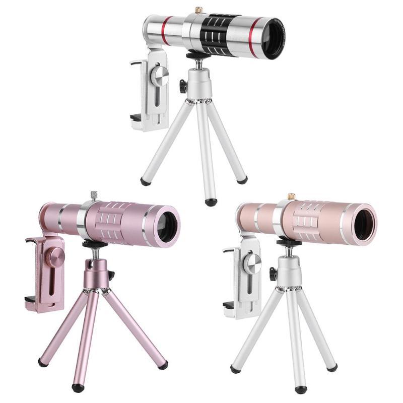 [해외]18x Zoom Optical Telescope Lens 18 Degree Visual Angle w/Tripod Metal Clip/18x Zoom Optical Telescope Lens 18 Degree Visual Angle w/Tripod Metal C