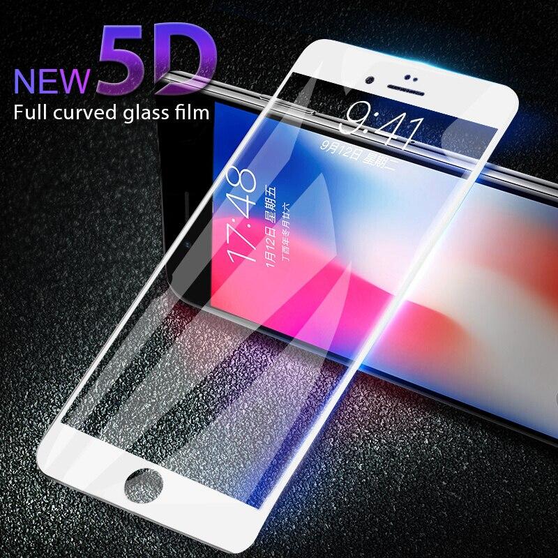 [해외]Aoxin 5d 전체 곡선 가장자리 강화 유리 아이폰 7 유리 7 플러스 화면 보호기에 대한 애플 아이폰 7 플러스 유리 3d 필름
