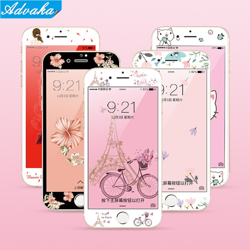 [해외]Advaka For iphone 6S 3D Screen Protector Soft Film For iphone 7P 6S Colorful Protection Full cover Film For iphone 6S Plus Case/Advaka For iphone
