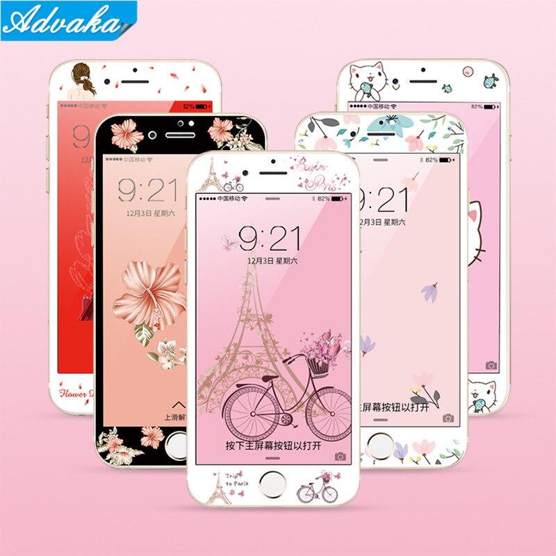 [해외]Advaka For iphone 6S 3D Screen Protector Soft Film For iphone 7P 6S Colorful Protection Full cover Film For iphone 6S Plus Case/Advaka For iphone