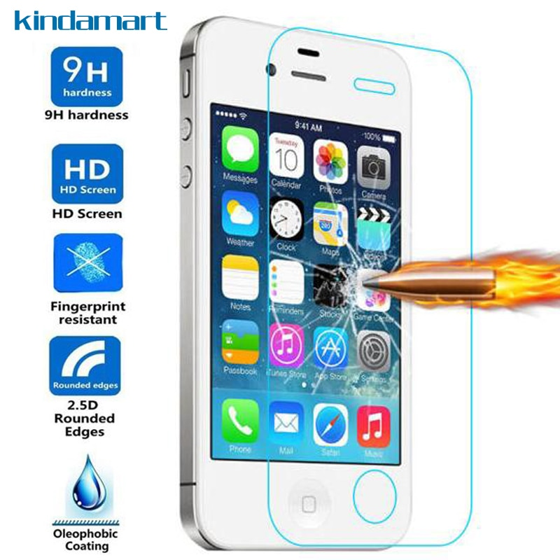 [해외]Protective Glass For iPhone X 4 4S 5 5S SE Tempered Glass Screen Protector For iPhone 6 6S 7 8 Plus Glass Film on Cover Case/Protective Glass For
