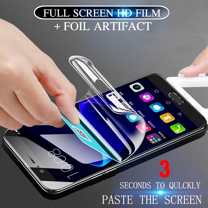 [해외]Soft Hydrogel film on for Huawei P10 P20 Lite Screen Protector Mate 10 Lite Pro Full Cover For Huawei Honor 9 10 lite Not glass/Soft Hydrogel film