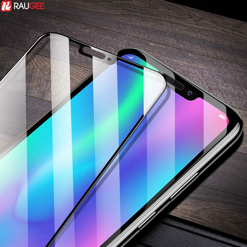[해외]Glass For Huawei Honor 8C Tempered Glass Full Cover Full Glue Screen Film Protector On For Huawei Honor 8 C Honor8C Glass/Glass For Huawei Honor 8