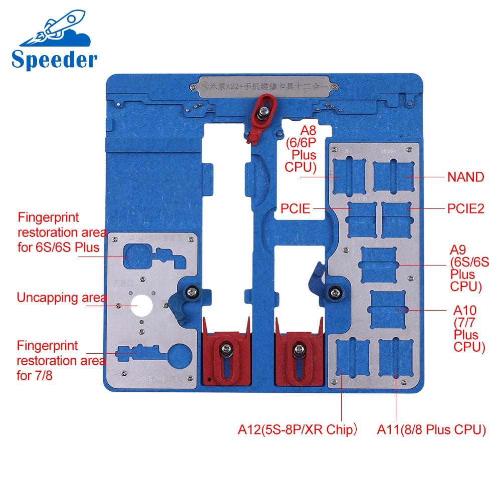 [해외]A22 High Temperature Resistant Logic Board Repair Clamps for iPhone 6 6P 6S 6SP 7 7P 8 8P IC/CPU Repair Fixture Holder Fix Tool/A22 High Temperatu
