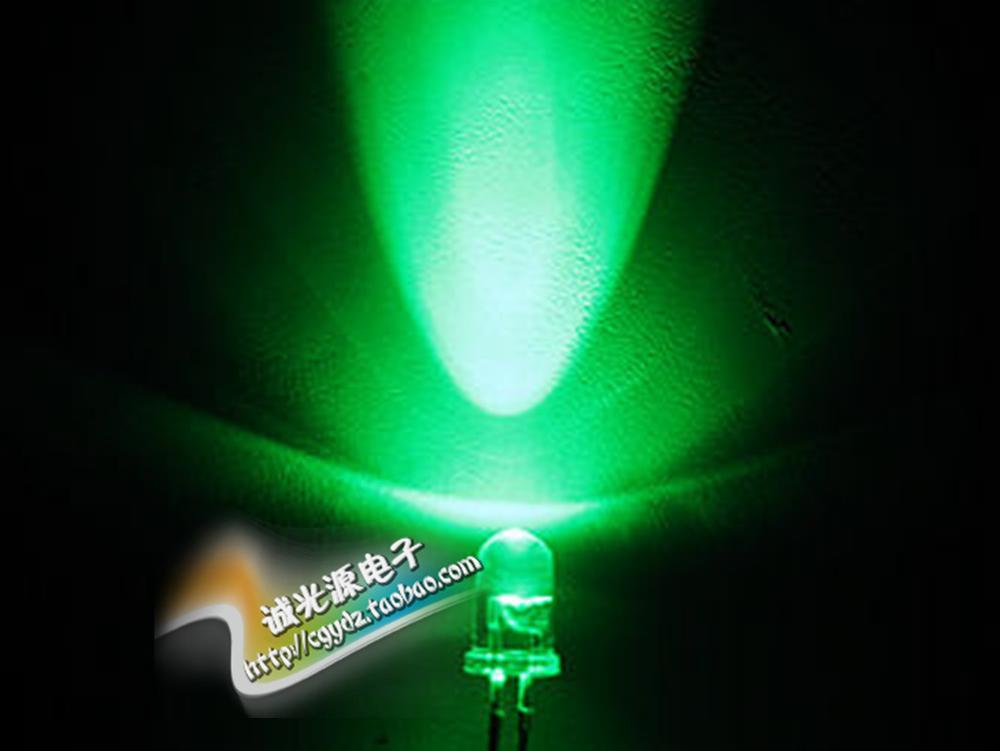 [해외]5MM white green short foot LED LED lamp super bright white F-5 pure green light transparent round DIY/5MM white green short foot LED LED lamp supe