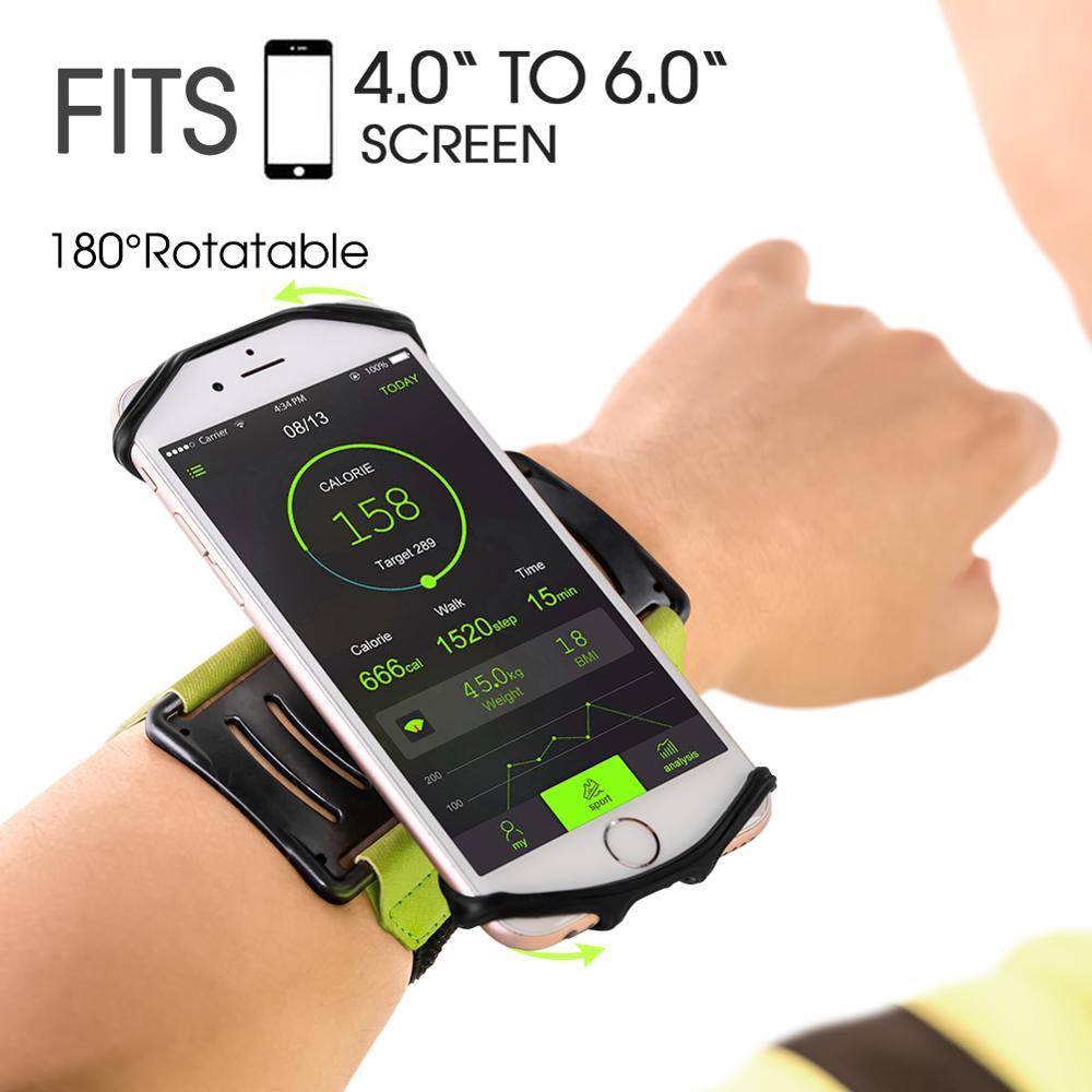 [해외]IKinHo Wristband Phone Holder for iPhone/Samsung/Google,180 degree rotation Great for Hiking Biking Walking Running Arm band/IKinHo Wristband Phon