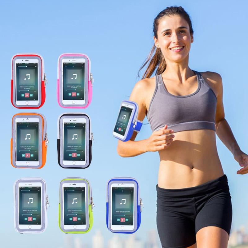 [해외]Sports Running 4-6Inch Phone Armband Waterproof Touch Screen Arm Band Brassard Smartphone Holder Cases Pouch For iPhone Andriod/Sports Running 4-6