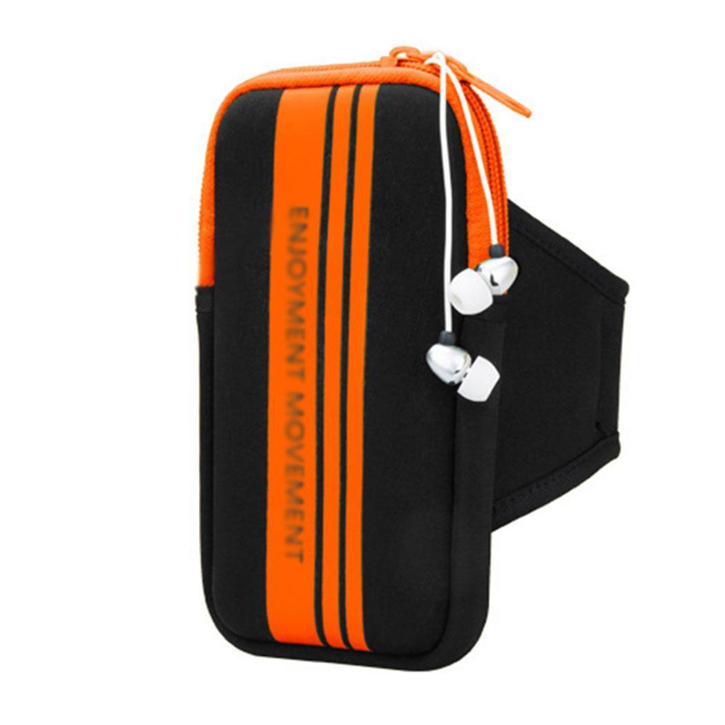 [해외]New Jogging Running Travel Pouch Keys Outdoor Mobile Phone Zipper Money Sport Orange, Blue, Black Arm Bag/New Jogging Running Travel Pouch Keys Ou