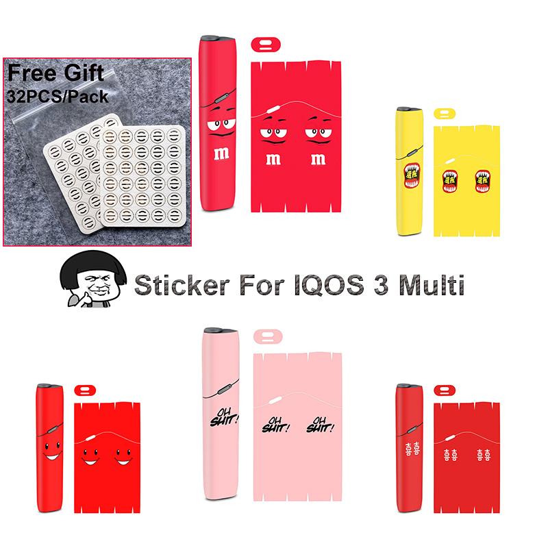 [해외]Iqos multi 3.0 피부를위한 새로운 pvc 소재 스티커 스킨 슈트 무료 선물/Iqos multi 3.0 피부를위한 새로운 pvc 소재 스티커 스킨 슈트 무료 선물