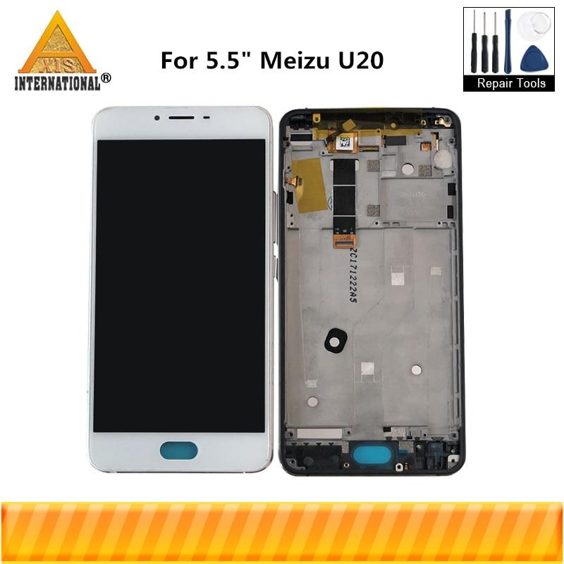 """[해외]5.5 """"용 Meizu U20 Axisinternational LCD 화면 + 디지타이저 터치 패널 터치 스크린 화이트 / 블랙 /For 5.5\"""