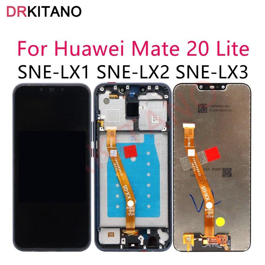 [해외]Original LCD Huawei Mate 20 Lite Display Touch Screen Digitizer for Huawei Mate 20 Lite LCD SNE LX1 LX2 LX3 Screen Replacement/Original LCD Huawei