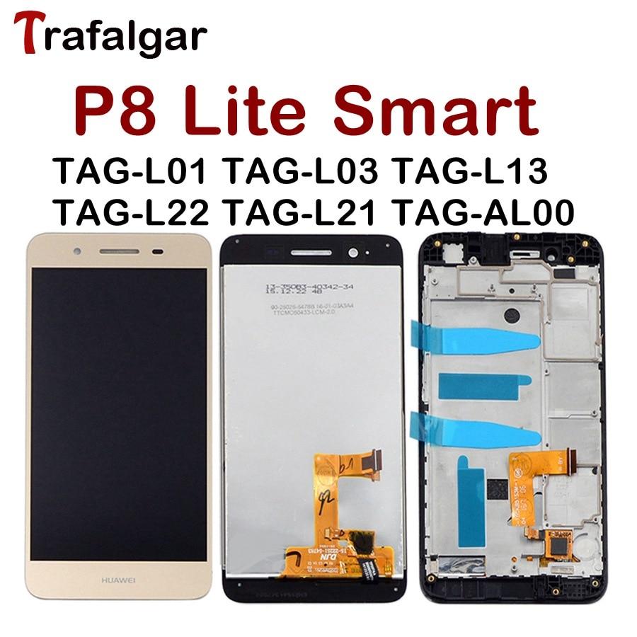 [해외]Huawei P8 Lite Smart LCD Display Touch Screen Digitizer For Huawei P8 Lite Smart LCDFrame GR3 TAG-L01 Screen Replacement/Huawei P8 Lite Smart LCD