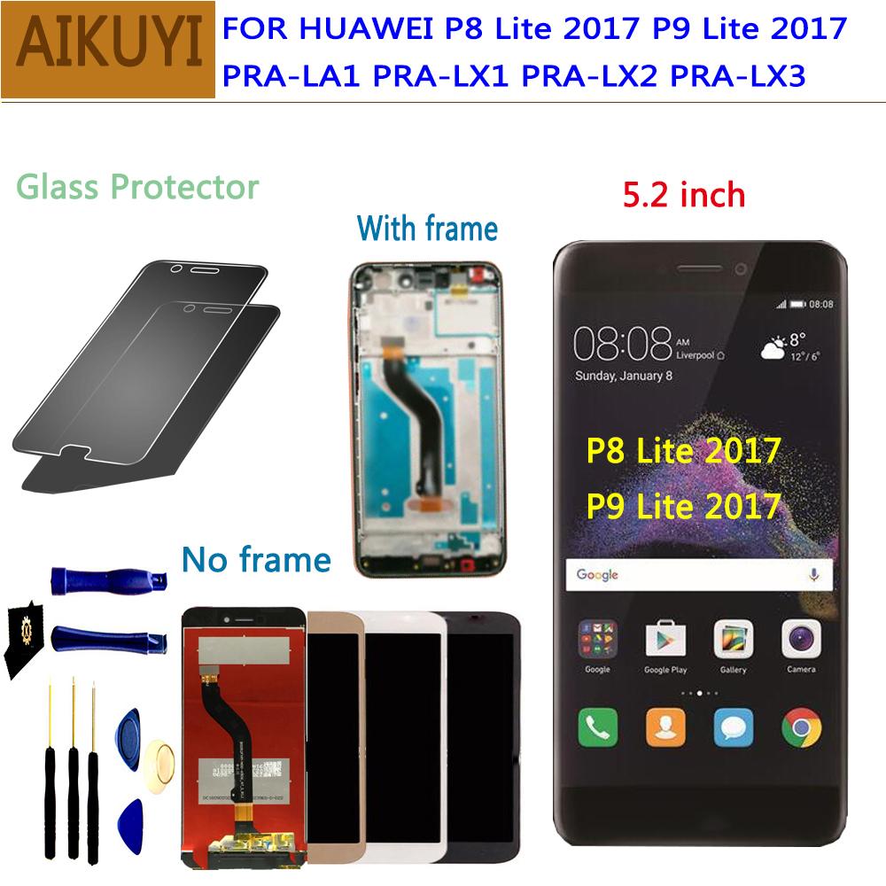 [해외] Huawei P9 Lite 2017 LCD Display Touch Screen Digitizer Huawei P9 Lite 2017 LCDFrame P8 lite 2017 PRA LA1 LX1 LX2 LX3/ Huawei P9 Lite 2017 LCD Dis