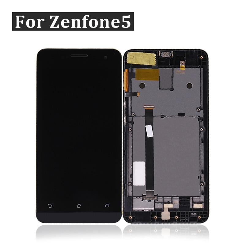 [해외]for ASUS Zenfone 5 LCD A500KL A500CG A501CG Display Touch ScreenFrame Zenfone 5 Display Digitizer Black New  /for ASUS Zenfone 5 LCD A500KL A500CG