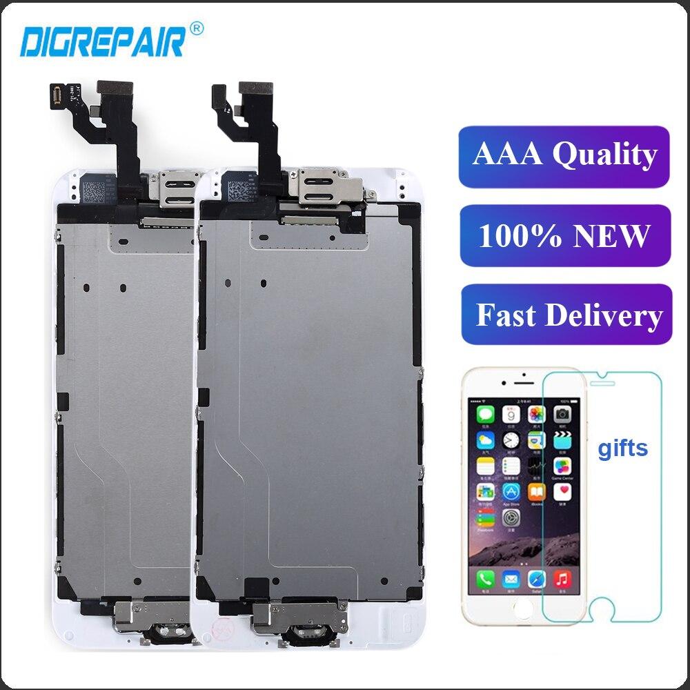 [해외]For iPhone 6 LCD Display Touch Screen For iPhone 6 DigitizerHome Button Front Camera Earspeaker Replacements/For iPhone 6 LCD Display Touch Screen
