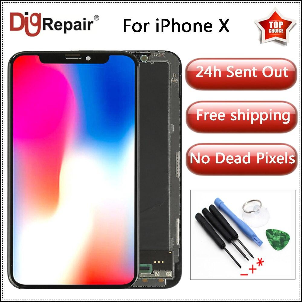[해외]100% Tested For iPhone X LCD Display Touch Screen Digitizer For iPhone X Display Assembly For iPhone X Screen Replacement Parts/100% Tested For iP