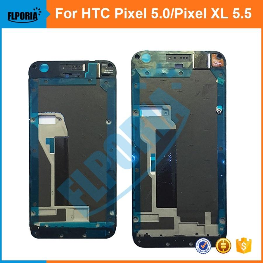 [해외]FLPORIA For HTC Google pixel 5.0`` pixel XL 5.5`` Front LCD FrameFront Adhesive Supporting Bezel Chassis Housing /FLPORIA For HTC Google pixel 5.0