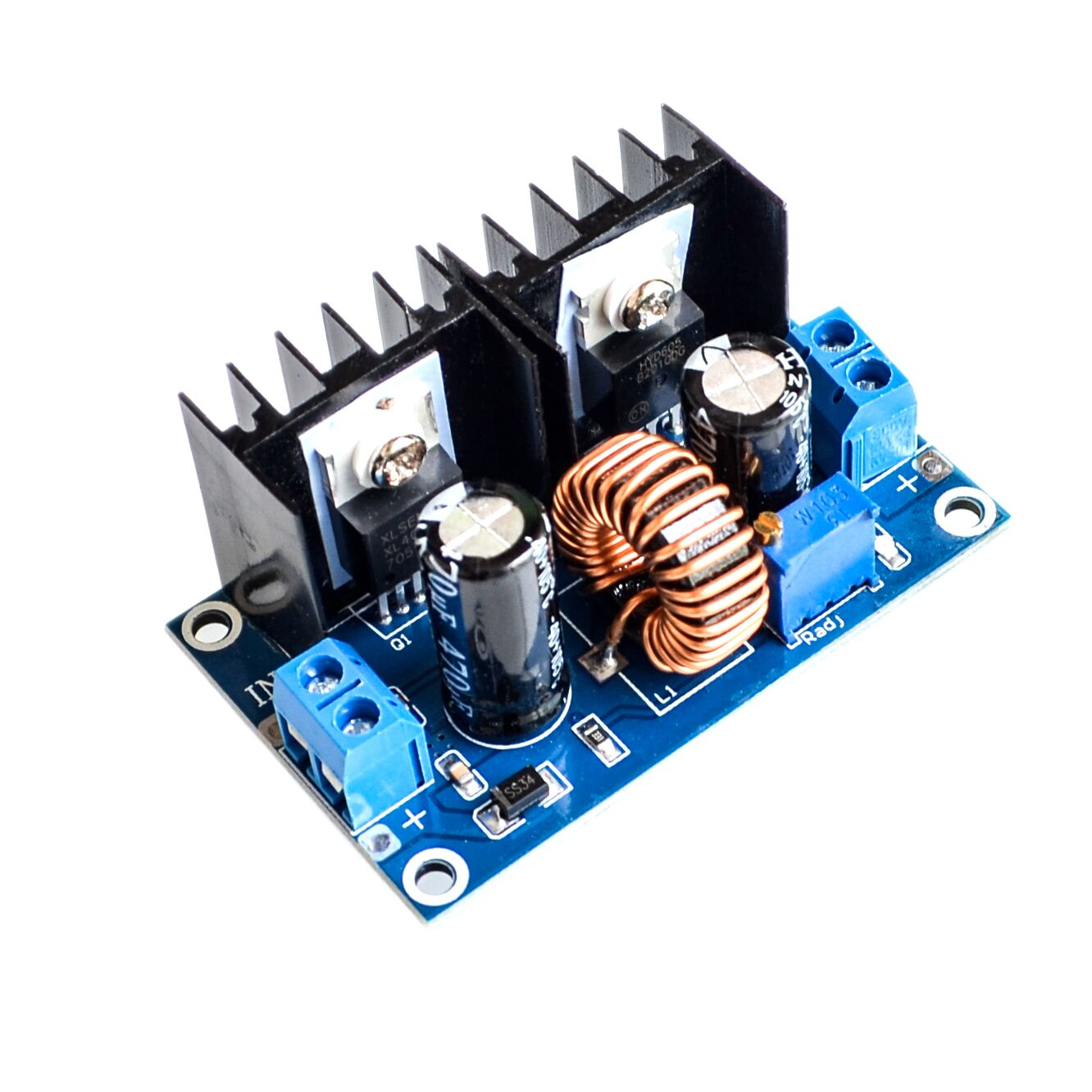 [해외]XL4016 PWM Adjustable 4-36V To 1.25-36V Step-Down Board Module Max 8A 200W DC-DC Step Down Buck Converter Power Supply/XL4016 PWM Adjustable 4-36V