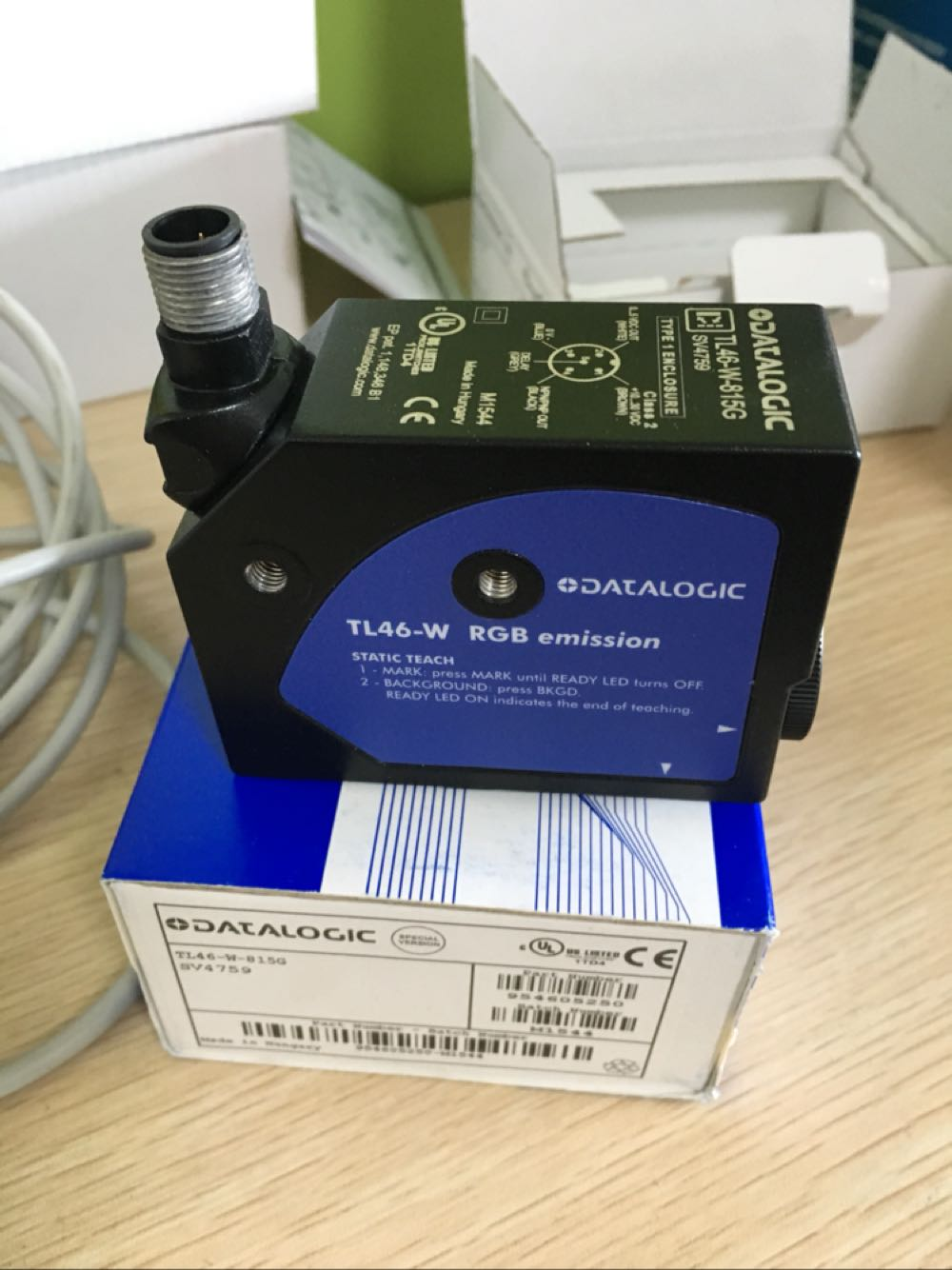 TL46-W-815G 컬러 마크 센서 가방 만들기 기계 100% 새로운 원본