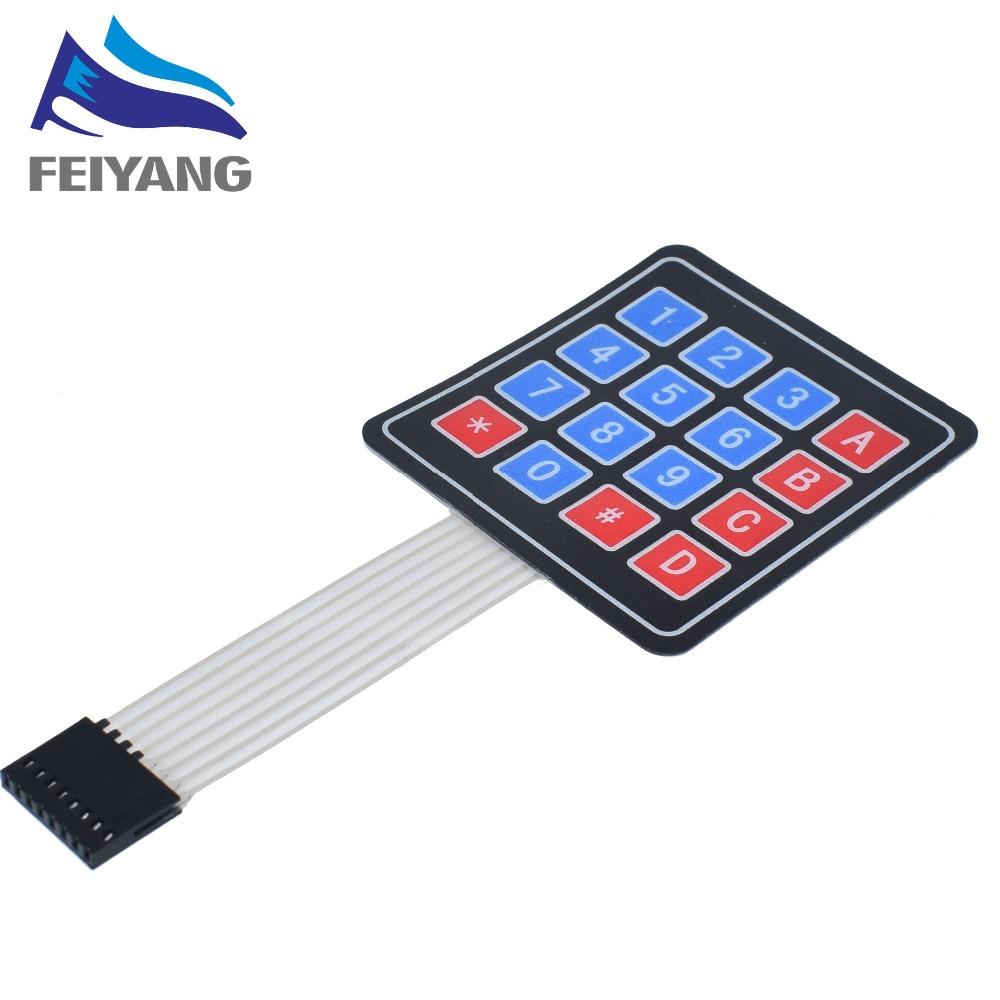[해외]10PCS 16 Key 4 x 4 Membrane Switch Keypad 4x4 4*4 Matrix Array Matrix keyboard/10PCS 16 Key 4 x 4 Membrane Switch Keypad 4x4 4*4 Matrix Array Matr