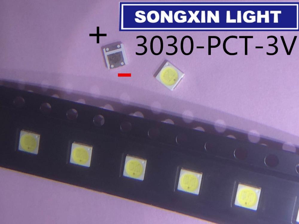 [해외]100PCS For lextar LED Backlight 1W 3030 3V Cool white 80-90LM TV Application new Lextar PCT led 3v/100PCS For lextar LED Backlight 1W 3030 3V Cool