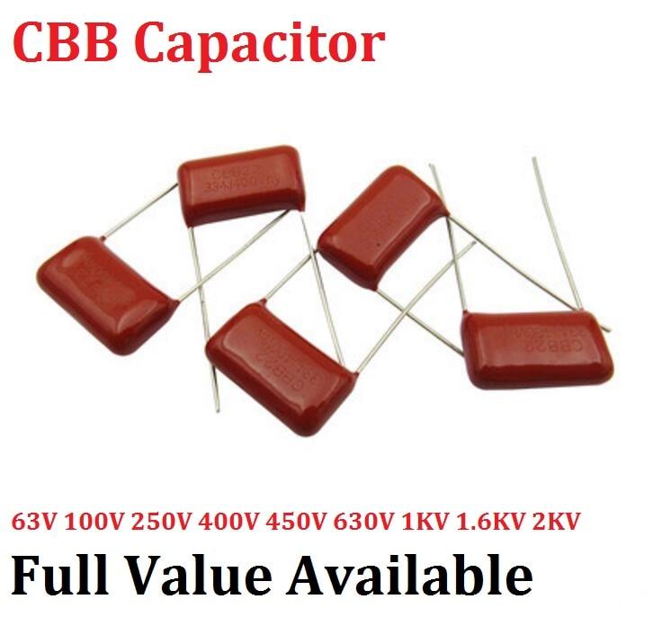 [해외]10pcs/lot CBB 1600V 472J 15MM 0.0047UF 4.7NF 4700PF 1.6KV Metallized Film Capacitor 472J1600V capacitance 1600V472J 472 4700P/10pcs/lot CBB 1600V