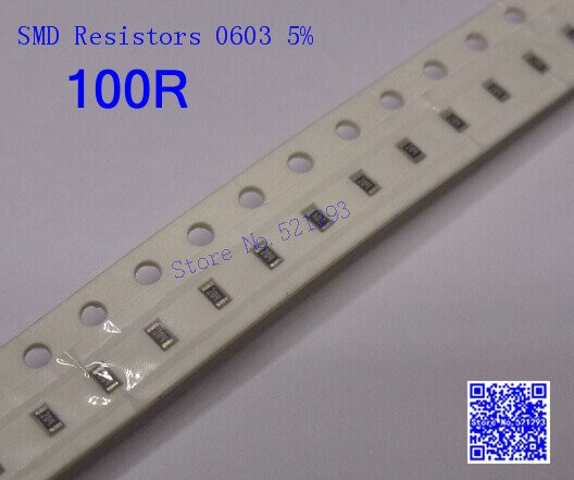 [해외]Chip Resistors 0603 100 ohm 100R 5% SMD Resistors 1/10W 500PCS/LOT/Chip Resistors 0603 100 ohm 100R 5% SMD Resistors 1/10W 500PCS/LOT