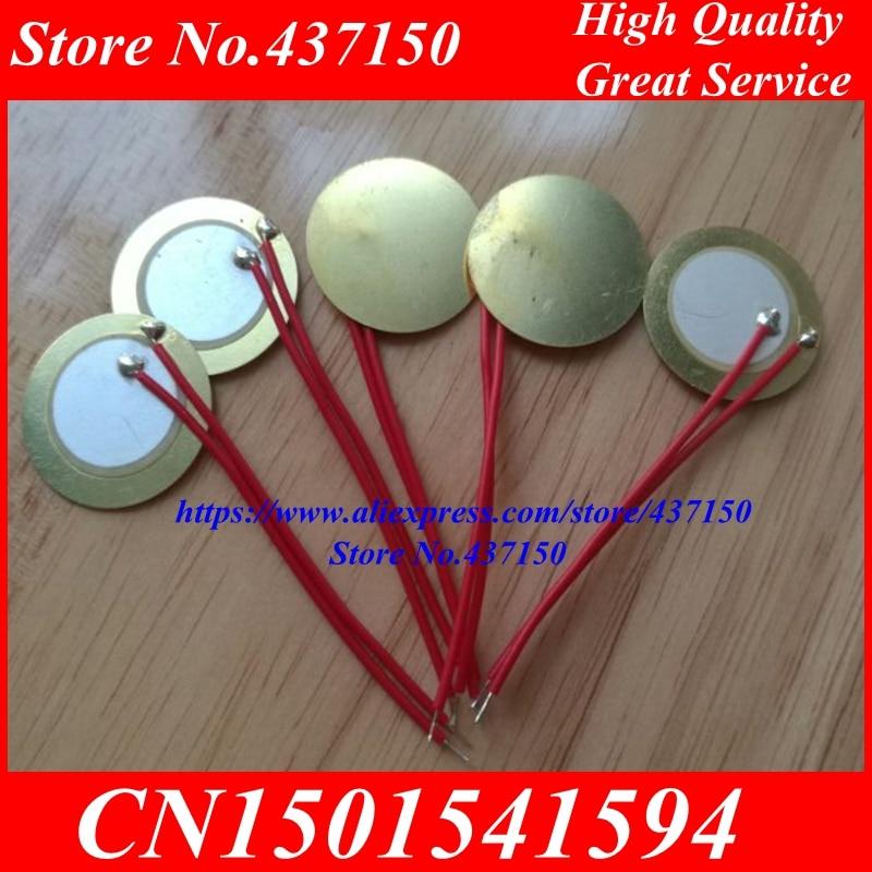 [해외]20pcs x 20mm  Piezo Ceramic Elementweld cable length 5CM copper substrate piezoelectric ceramic   /20pcs x 20mm  Piezo Ceramic Elementweld cable l