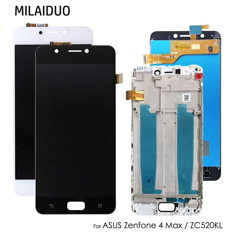 [해외]Asus zenfone 4 max zc520kl 터치 스크린 디지타이저 어셈블리 교체 용 lcd 디스플레이 블랙 화이트 프레임 5.2/Asus zenfone 4 max zc520kl 터치 스크린 디지타이저 어셈블리 교체 용 lcd 디스플레이 블