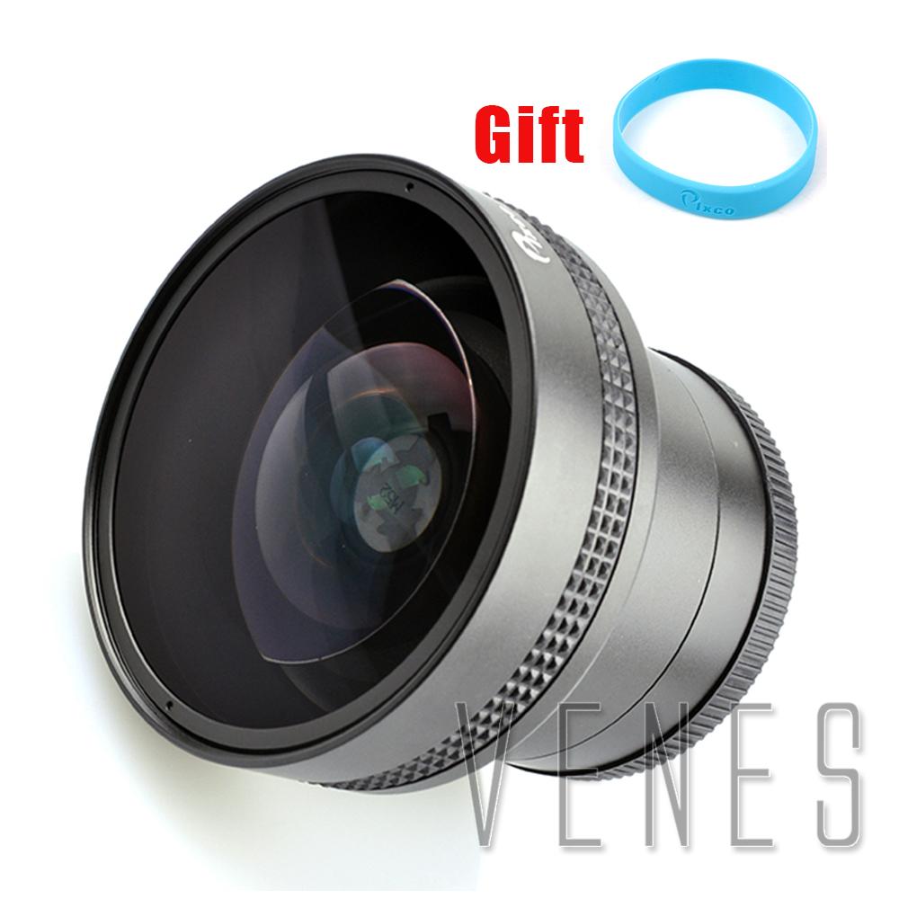 [해외]Pixco 52mm 0.25X 슈퍼 어안 렌즈 와이드 앵글 렌즈 + 렌즈 손목 스트랩 포함/Pixco 52mm 0.25X Super Fisheye Wide Angle Lens+with Lens wrist strap