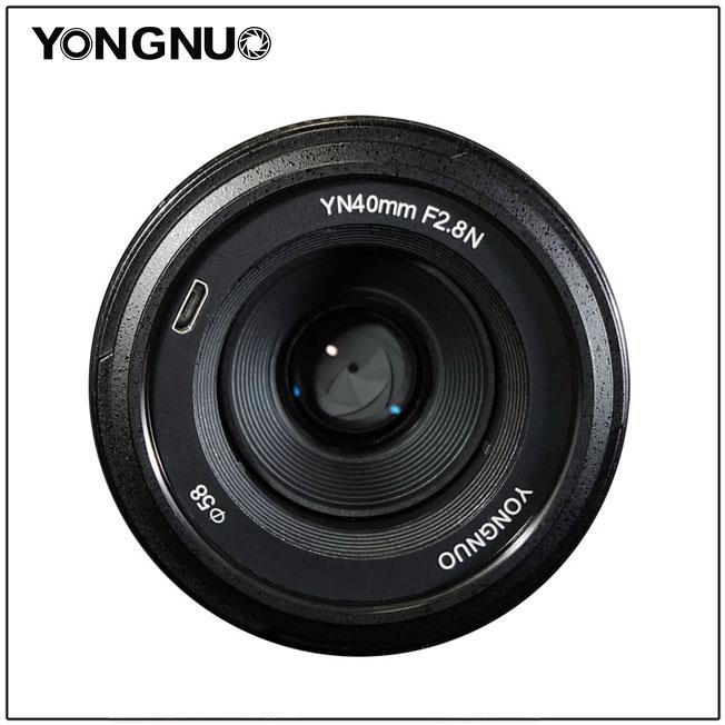 [해외]NEW YONGNUO 40MM F2.8 AF 렌즈 경량 표준 프라임 자동 초점 Lente YN40mm Nikon DSLR 카메라 용 D7200 D5300 D5200 D750/NEW YONGNUO 40MM F2.8 AF Lens Light-weight Standa