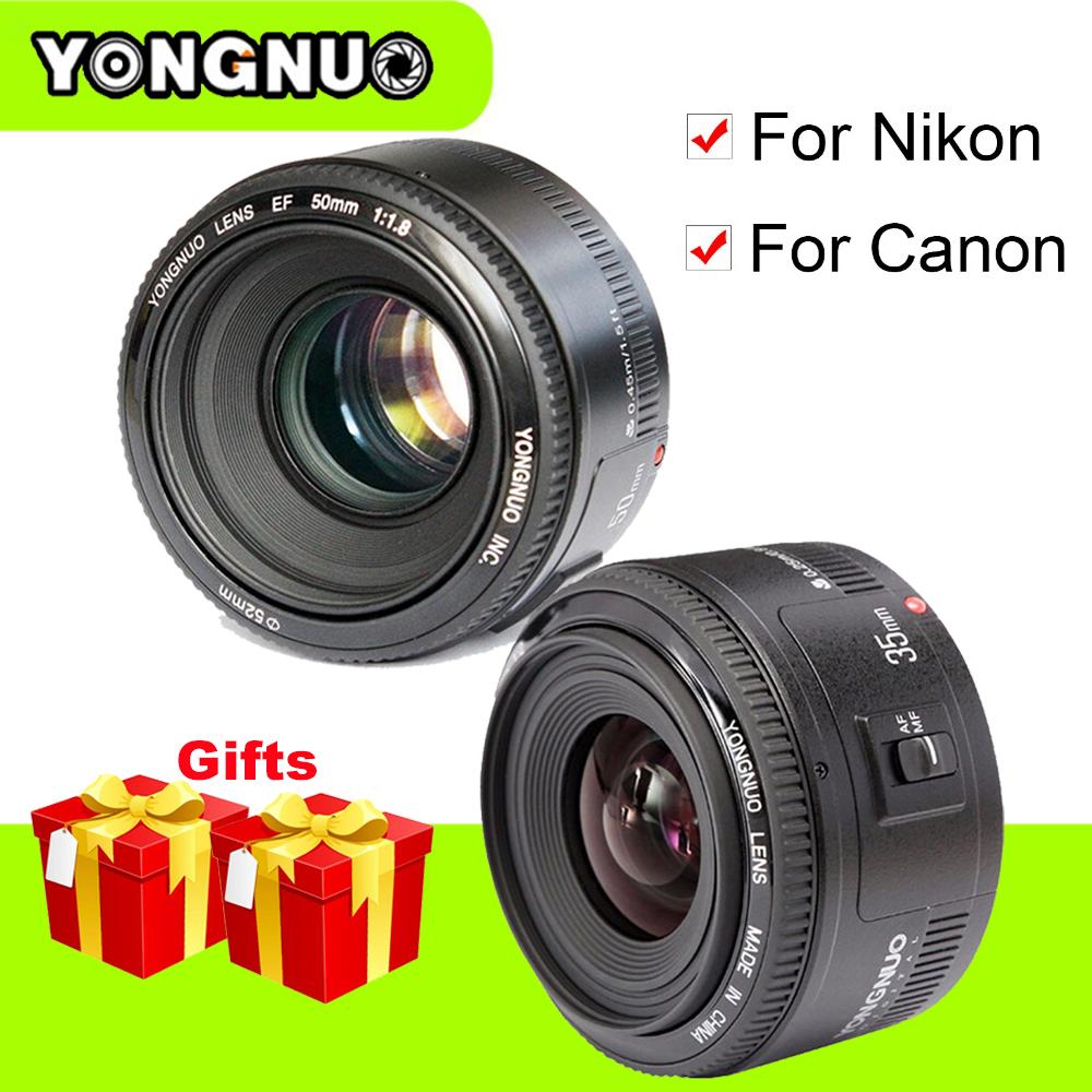 [해외]용인 YN35mm F2 광각 대구경 고정식 자동 초점 렌즈 YN50mm F1.8 캐논 용 Nikon D7100 D3200 D3300 D3100 D5100/Yongnuo YN35mm F2 Wide-angle Large Aperture Fixed Auto Focus