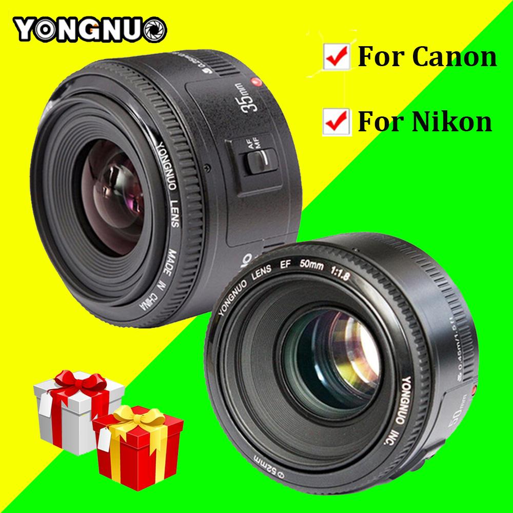 [해외]영남 YN35mm F2.0 AF / MF 고정 초점 렌즈, YN50mm F1.8 AF / EF 렌즈 Nikon F 마운트 용 D7100 D3200 D3300 D3100 D5100 D90 for Canon/YONGNUO YN35mm F2.0 AF/MF Fixed