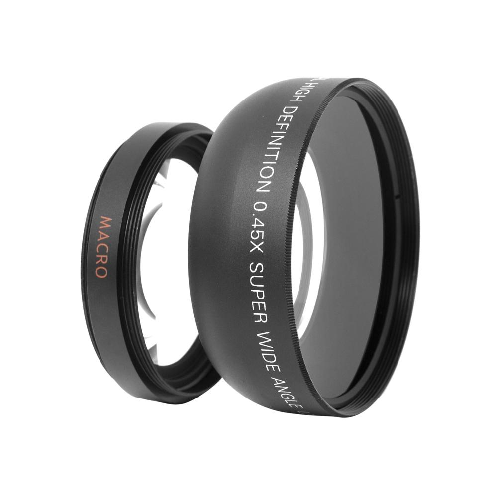 [해외]유니버설 55mm 0.45x 초 고해상도 와이드 앵글 + DSLR DC 카메라를분리형 매크로 변환 렌즈 내장/Universal 55mm 0.45x Super High Resolution Wide Angle + Built-in Detachable Macro Con