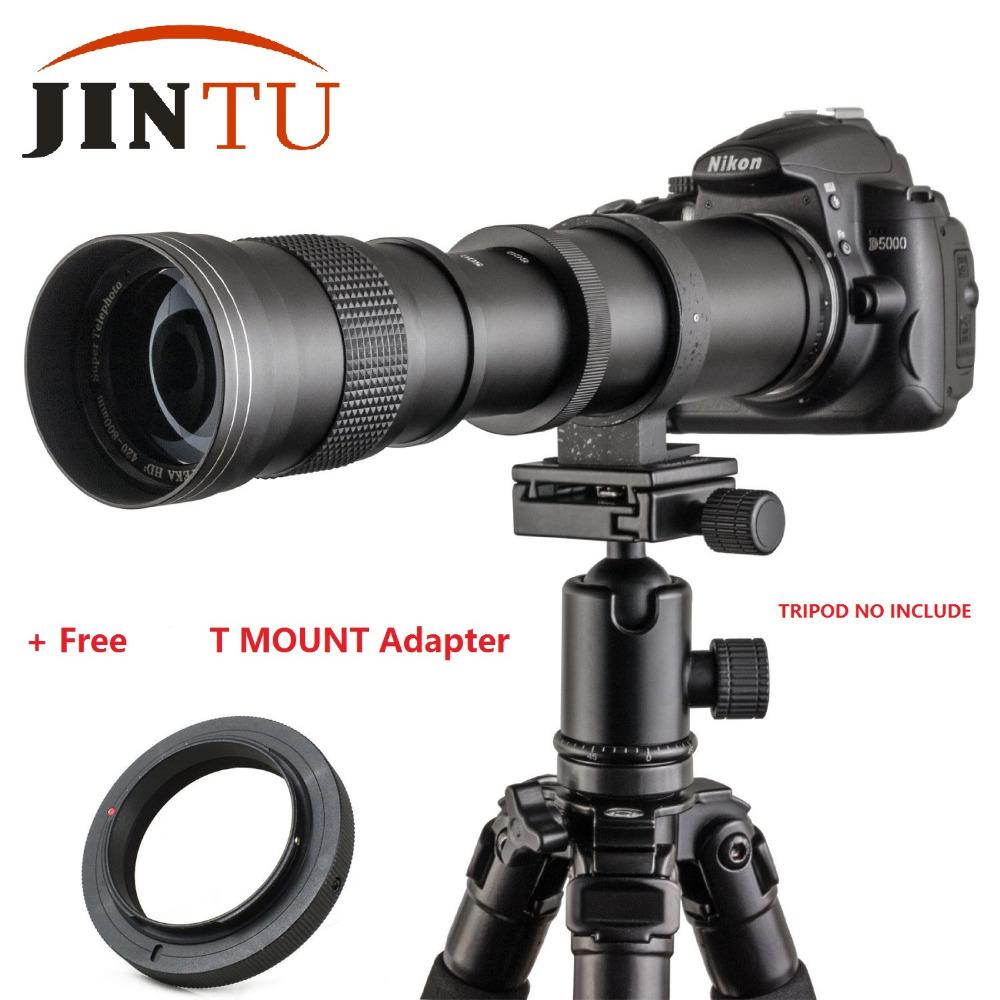 [해외]JINTU 420-800mm F / 8.3-16 슈퍼 수동 줌 망원 렌즈 Canon EOS 용 반란군 T5i T4i T3i XSi 550D 650D 750D 60D 70D 카메라 DSLR/JINTU 420-800mm F/8.3-16 Super Manual Zoo
