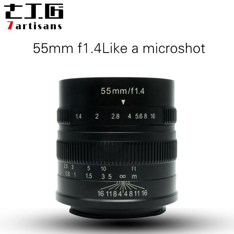 [해외]7artisans 55mm F1.4 대형 조리개 세로 수동 초점 마이크로 카메라 렌즈 캐논 전자 마운트 후지산 FX - 금액/7artisans 55mm F1.4 Large Aperture Portrait Manual Focus Micro Camera Lens F