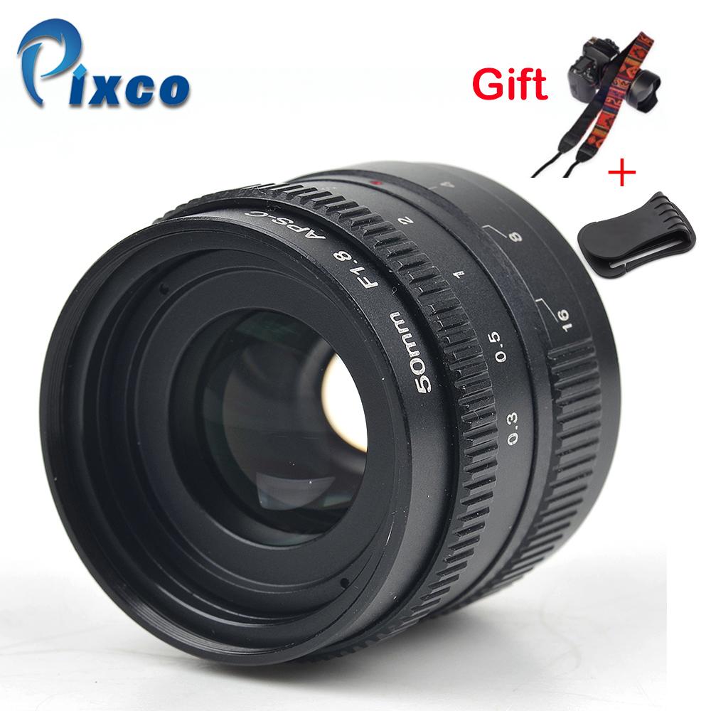 [해외]Pixco 50mm f / 1.8 미러리스 C 마운트 APS-C TV TV 렌즈 용 렌즈 (마이크로 4/3 OM-D 용 C 마운트 카메라) E-M10 II GX7 GF6 GH3/Pixco 50mm f/1.8 mirrorless C-mount  APS-C Tele