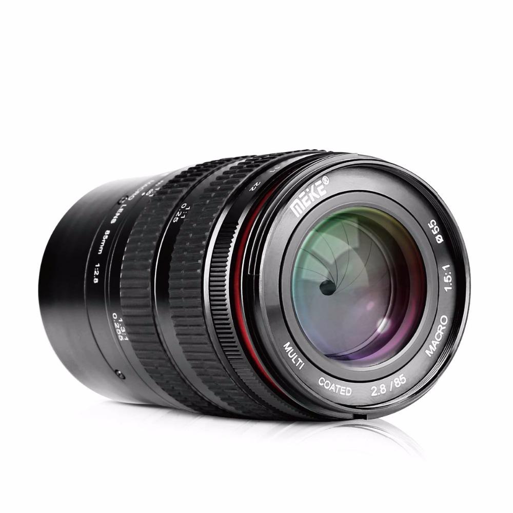 [해외]후지 미러리스 카메라 용 85mm f / 2.8 수동 초점 풀 프레임 중간 망원 1.5 : 1 매크로 렌즈 및 인물 사진 촬영/MEKE 85mm f/2.8 Manual Focus Full Frame Medium Telephoto 1.5:1 Macro Lens a