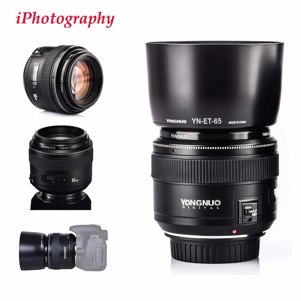 [해외]영유 YN85mm F1.8 렌즈 표준 중형 망원 렌즈 + 렌즈 후드 키트 캐논 EF 카메라 용 7D 5D 1D Mark I II III 6D 80D 70D 760D/YONGNUO YN85mm F1.8 Lens Standard Medium Telephoto len